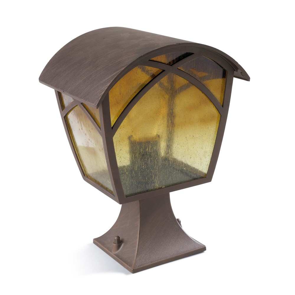 Alba Lantern 30x22x19cm Brown oxido 1xE27 MAX 100W