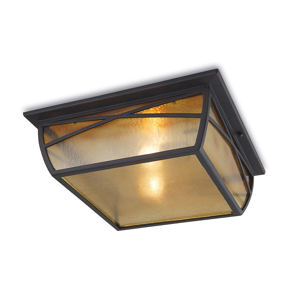 Alba ceiling lamp Outdoor 11x35x35cm Brown oxido 2xE27 MAX 100W