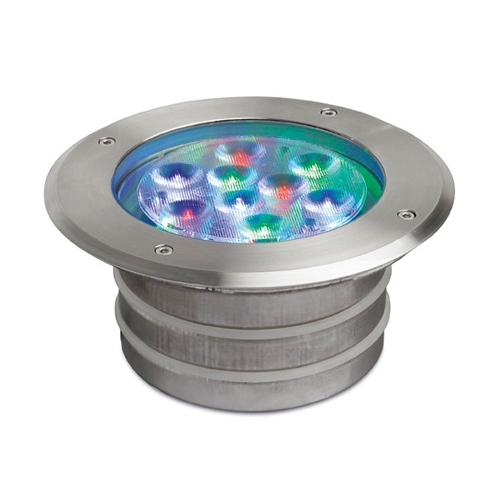 Aqua Einbauleuchten schwimmbad ø17x9cm LED 9x1w RGB IP68 Edelstahl AISI 316