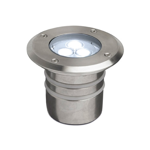 Aqua Recessed swimming Pool ø11x9cm LED 3x1w 6500K IP68 Stainless Steel AISI 316