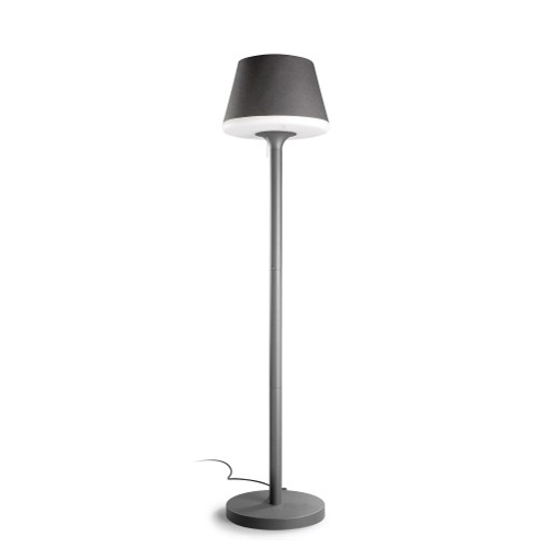 Moonlight Floor Lamp 43x180cm PL E27 lampshade of polyethylene opaca - Grey Urbano