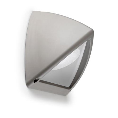 Piramid Aplique Exterior 27x24x18cm PL E27 15w gris