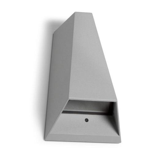 Taylor Aplique Exterior 11x17x6cm LED Cree 2x1w 4200K gris
