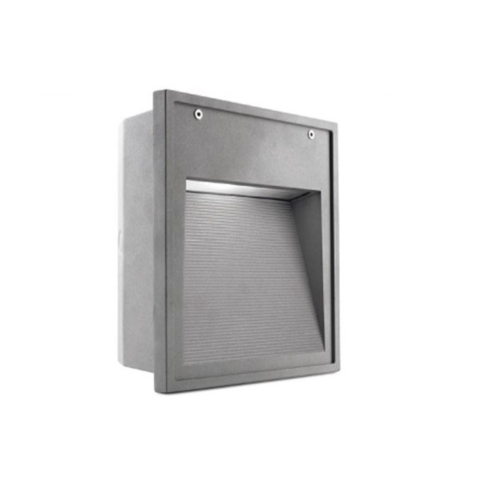 Micenas Recessed wall Square 26cm G24d-3 26w - Grey