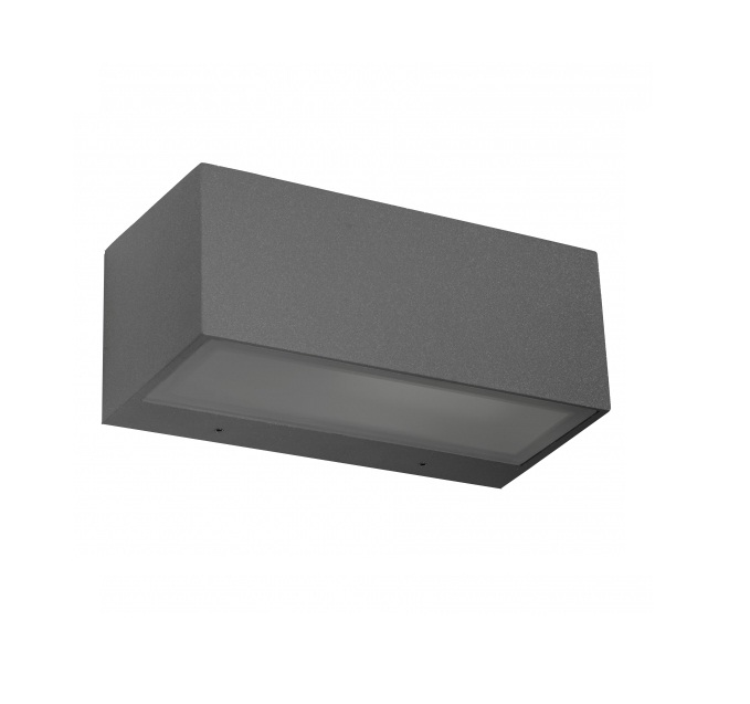 Nemesis Wall Lamp Outdoor 22x11x9cm E27 60w Grey Urbano