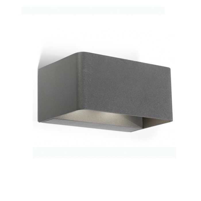 Wilson Aplique Exterior 19cm LED 12x1w 3000K gris Urbano