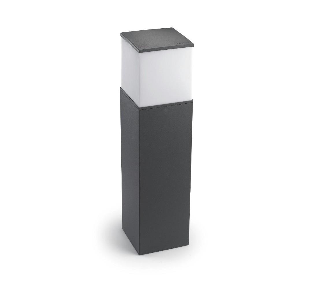 Cubik Baliza 15x15x60cm PL E27 60W Gris Urbano