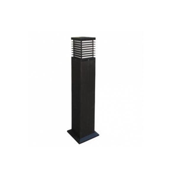Nott Balise carré 18x90cm E27 23w Noir
