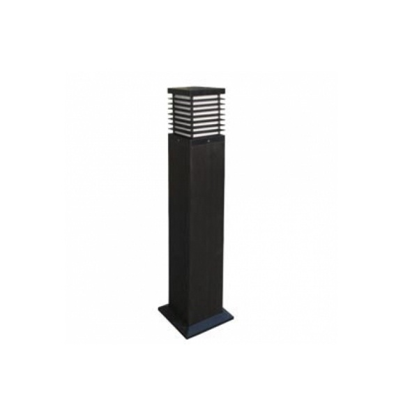 Nott Baliza cuadrada 18x90cm E27 23w negro