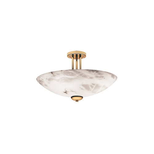 Pendant Lamp Gold Alabaster white
