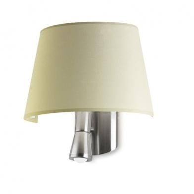 Balmoral Wall Lamp 27x31x14cm PL E E27 15w + 1 LED 3w 2800K lampshade Beige