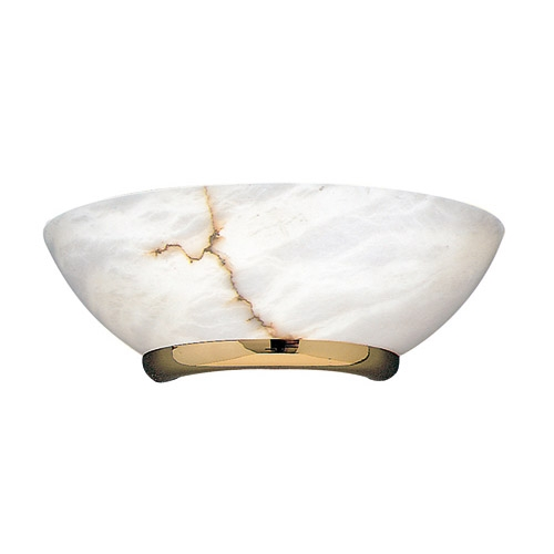 Wall Lamp Gold Alabaster white