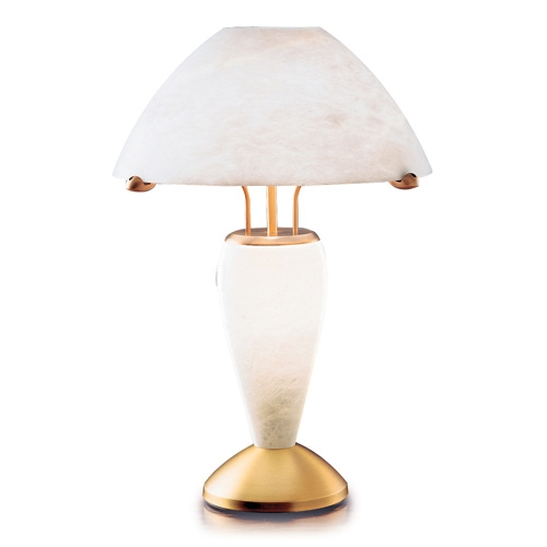 Table Lamp Patine rojizo Alabaster white