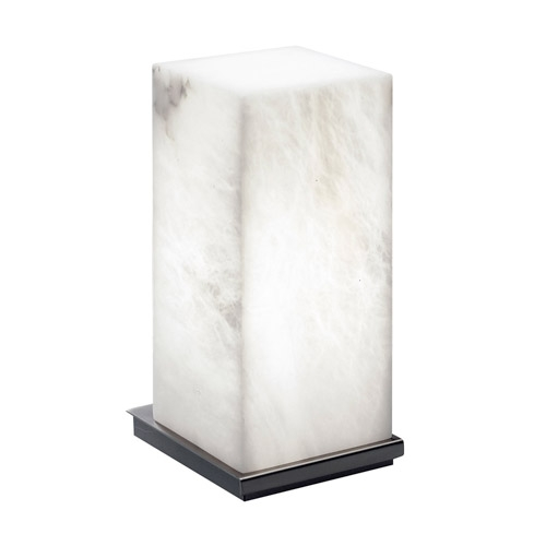 Table Lamp Evolution [ ] Nickel Satin Alabaster white