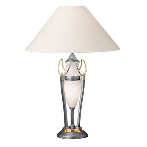 Umbrella Table Lamp Níquel Satin/Oro