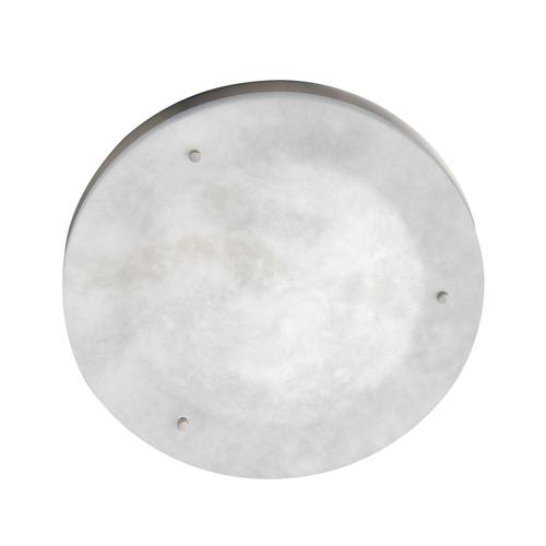 Plafón Evolution ii Níquel Satinado Alabastro blanco