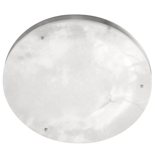 Plafón Evolution iii Níquel Satinado Alabastro blanco