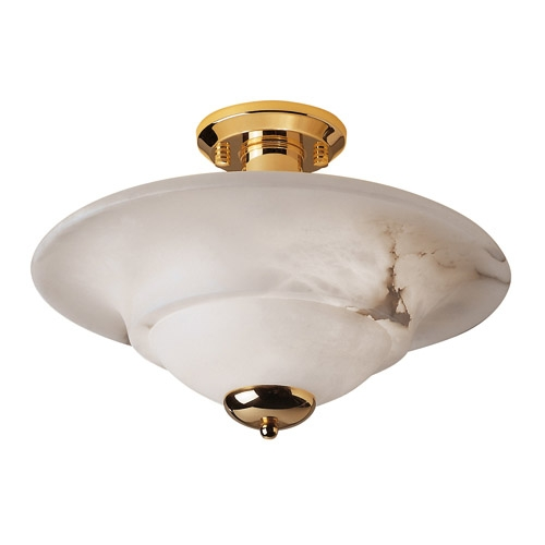 ceiling lamp Gold Alabaster white