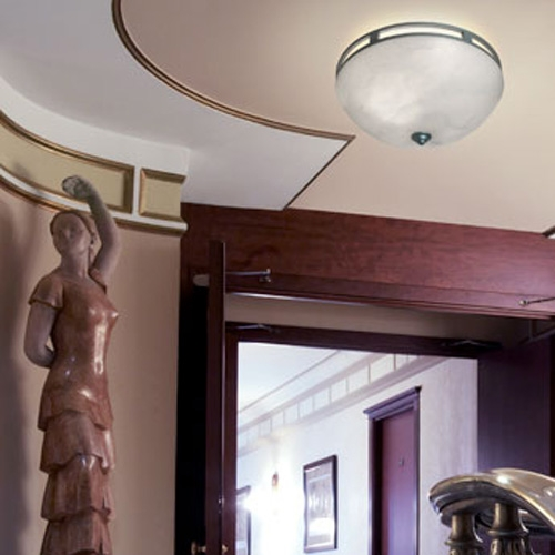 Serie to ceiling lamp Aluminium pintado Alabaster white
