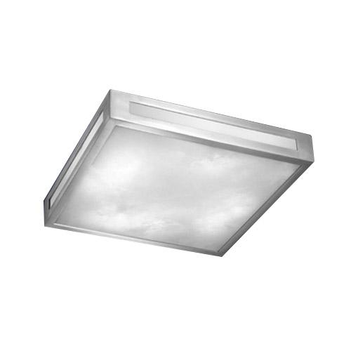 ceiling lamp Evolution I Alabaster white Aluminium pulido and Satin
