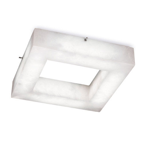 ceiling lamp Evolution Square Chrome Alabaster white