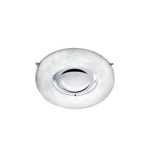 ceiling lamp Evolution circular Chrome Alabaster white