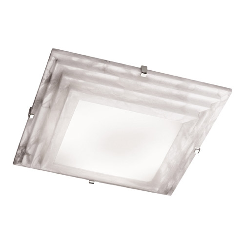 ceiling lamp Evolution Ii Chrome Alabaster white