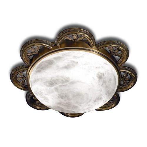 ceiling lamp 40933 Large Patiné rojizo Alabaster white