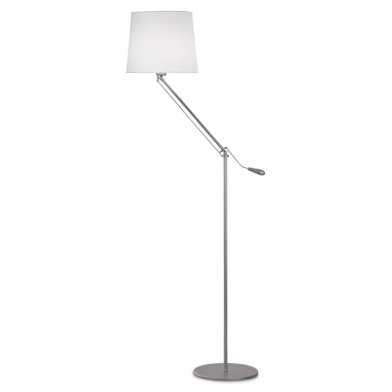Milan lámpara of Floor Lamp 163cm E27 30w Nickel mate