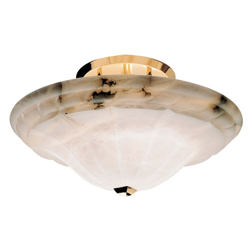 lâmpada do teto Ouro Alabastro branco
