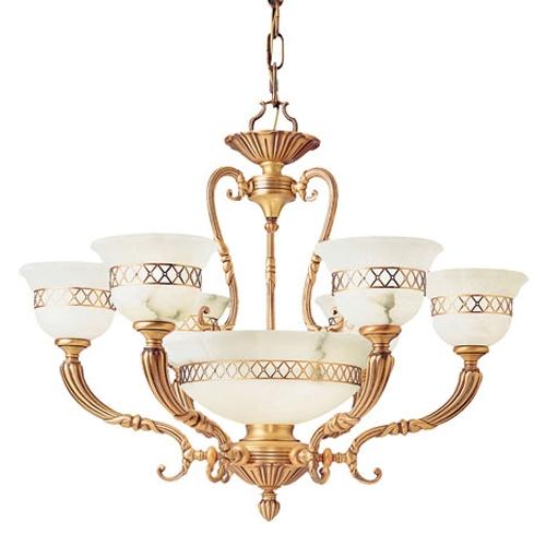 Lámpara Pavillion Ii Patine Rojizo Patine rojizo Alabastro blanco