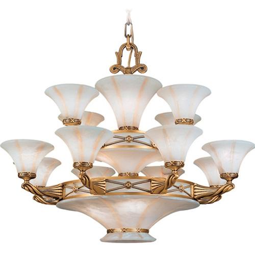 Lámpara 20l Muse Patine rojizo Alabaster weiß mit talla beige