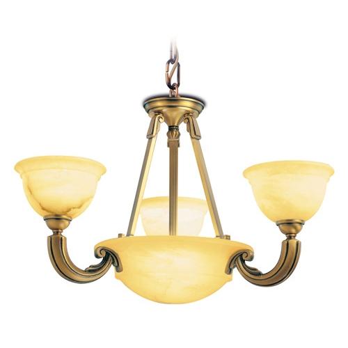 Lámpara 5L Tora Patine rojizo Alabaster champan
