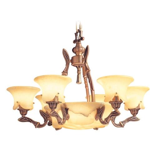 Lámpara Austria Patine rojizo Alabaster champan