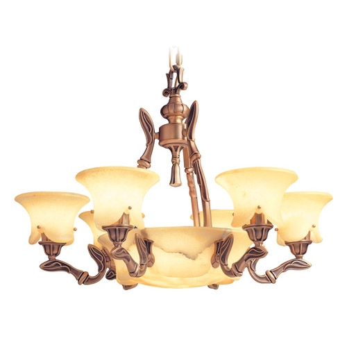 Lámpara Austria Patine rojizo Alabastro champan