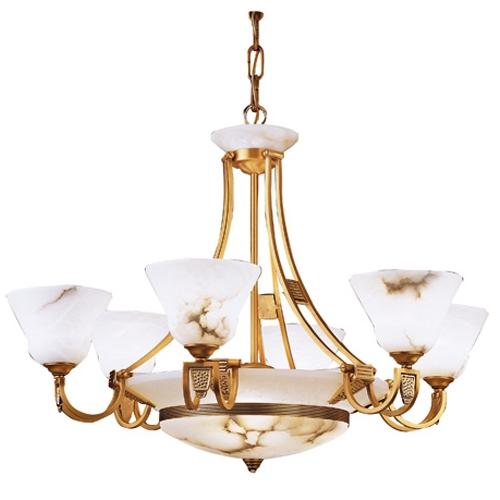 Nilo Lamp Gold/Patine rojizo Alabaster white