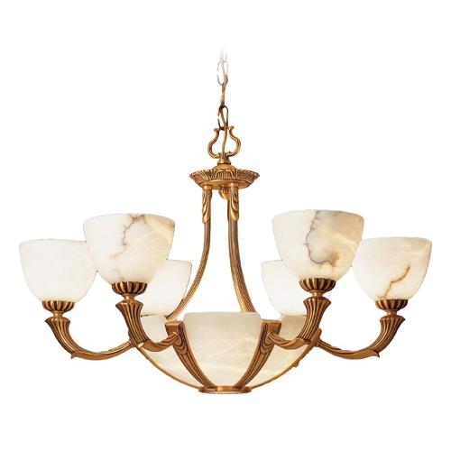 Sir Davenport Lamp Patine rojizo Alabaster white
