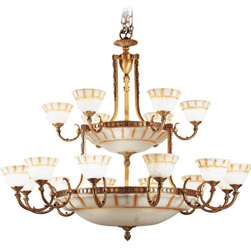 Lámpara Patine rojizo Alabastro con talla rustica