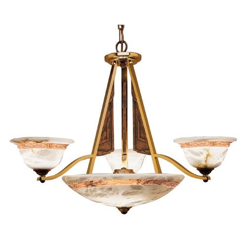Axe Lampe Braun/Oro Alabaster weiß mit talla Braun