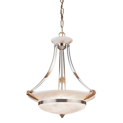 Nilo Pendant Lamp Gold/Patine rojizo Alabaster white