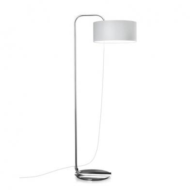Brooklyn lámpara of Floor Lamp ø45x68x172cm 1xPL E E27 30w Chrome white lampshade