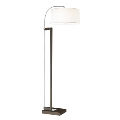 Extend Floor Lamp 3xE27 max. 60w - Brown aged white lampshade