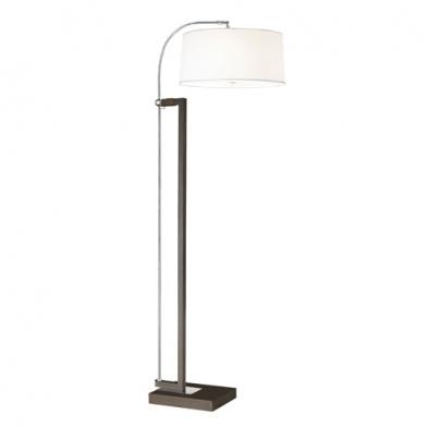 Extend lámpara de Pie 3xE27 max. 60w - Marrón envejecido pantalla blanca