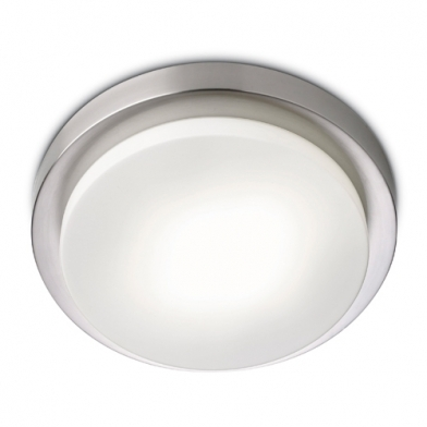 Parma 280 ceiling lamp Glass opal Nickel Satin