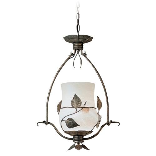 Hiedra Pendant Lamp Gold viejo/Oro Alabaster white