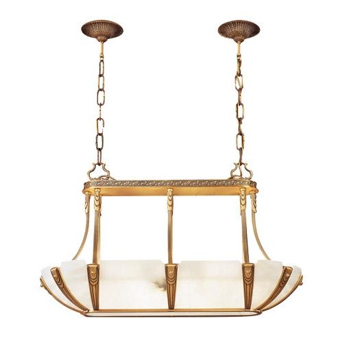 Sir Davenport Pendant Lamp Patine rojizo Alabaster white