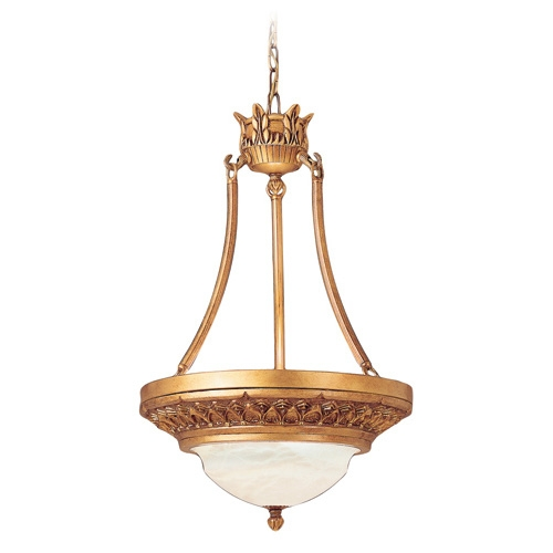 Atlas Pendant Lamp ámbar Golden Alabaster white