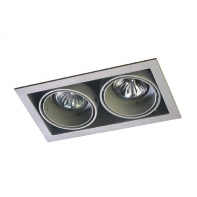 Multidir Downlight Double rectangulaire QR-CBC51 GU5.3 Gris