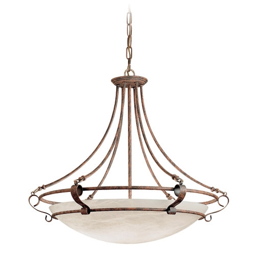 Pendant Lamp Brown/Oro Alabaster white