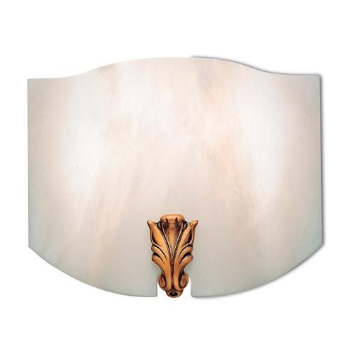 Wall Lamp Patine rojizo Alabaster white